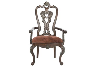 Image for GENEVIEVE WOOD BACK ARM CHAIR