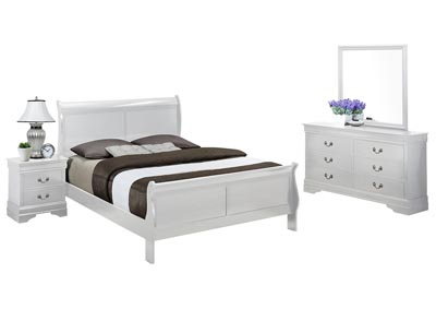 LOUIS PHILIP WHITE QUEEN BEDROOM SET