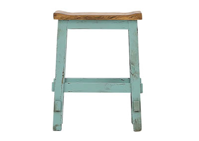"Image for LAWMAN TURQUOISE 24"" SADDLE STOOL"