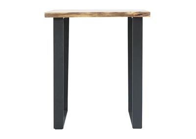 Image for BENGAL MANOR IRON & LIVE EDGE END TABLE