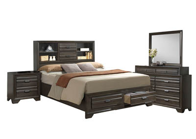 Image for ASLINN ANTIQUE GREY KING BEDROOM SET