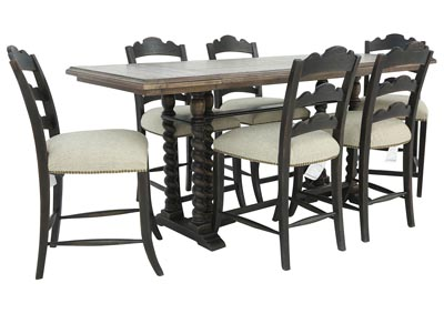 Image for LAGRANGE 7 PIECE COUNTER HEIGHT DINING SET