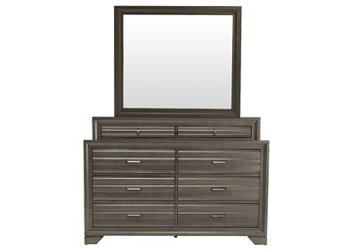 Image for ASLINN ANTIQUE GREY DRESSER AND MIRROR