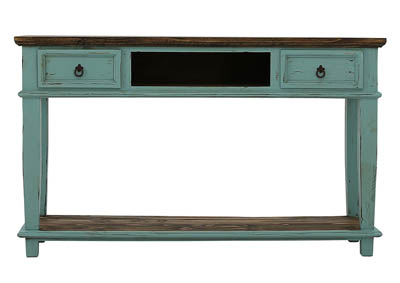 Image for LAWMAN TURQUOISE CONSOLE TABLE