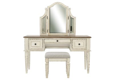 Image for REALYN VANITY/MIRROR/STOOL