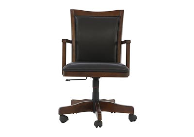Image for HAMLYN MEDIUM BROWN HOME OFFICE SWIVEL DESK CHAIR