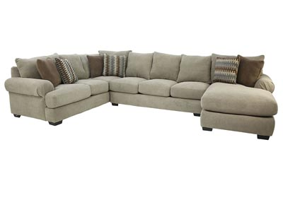 Image for BACARAT 3 PIECE RIGHT ARM CHAISE SECTIONAL