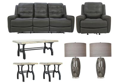 Image for WICKLOW POWER DARK BROWN LIVING ROOM SET