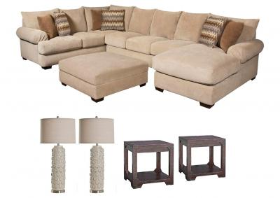 Image for BACARAT TAUPE LIVING ROOM SET