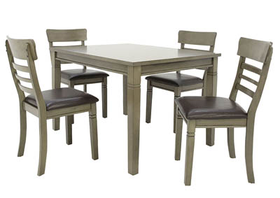 Image for BLAINE GREY 5 PIECE DINING SET