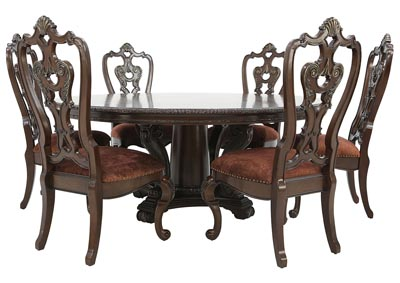 Image for GENEVIEVE 7 PIECE ROUND DINING SET