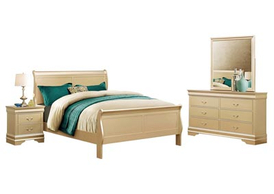 LOUIS PHILIIP CHAMPAGNE TWIN BEDROOM SET