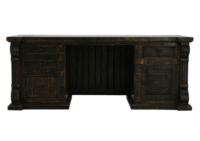 Image for BRONSON ANTIQUE BLACK DESK