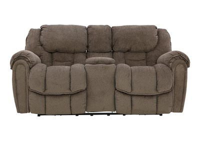 BAXTER TAUPE POWER RECLINING LOVESEAT WITH CONSOLE