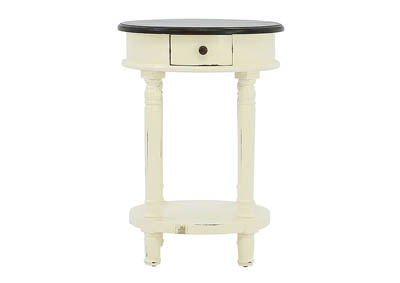 Image for CAROLYN IVORY ROUND ACCENT TABLE