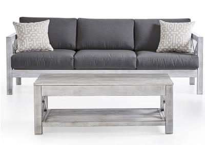 Image for FARLOWE CANVAS COAL SOFA
