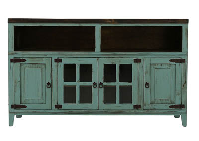 "Image for LAWMAN TURQUOISE 60"" TV STAND"