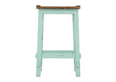 "Image for LAWMAN TURQUOISE 30"" SADDLE STOOL"