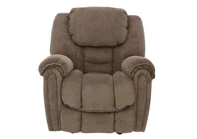 Image for BAXTER TAUPE ROCKER RECLINER
