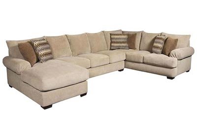 Image for BACARAT 3 PIECE LEFT ARM CHAISE SECTIONAL