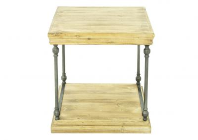 Image for METAL AND WOOD END TABLE