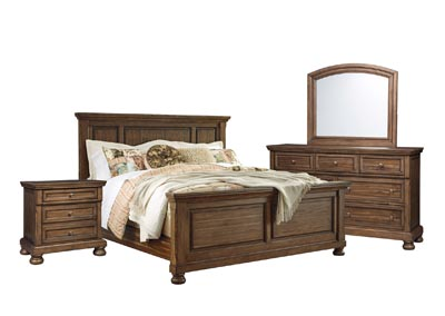 FLYNNTER KING PANEL BEDROOM SET