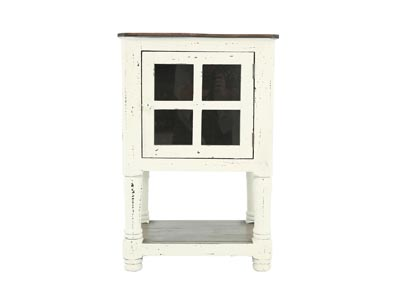 AUGUSTA WHITE AND TOBACCO ACCENT TABLE