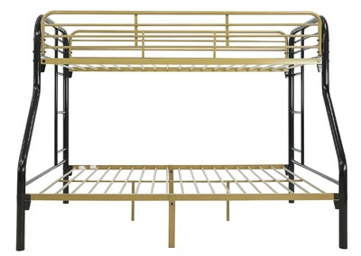 Image for MADISYN BLACK/GOLD TWIN/FULL BUNKBED