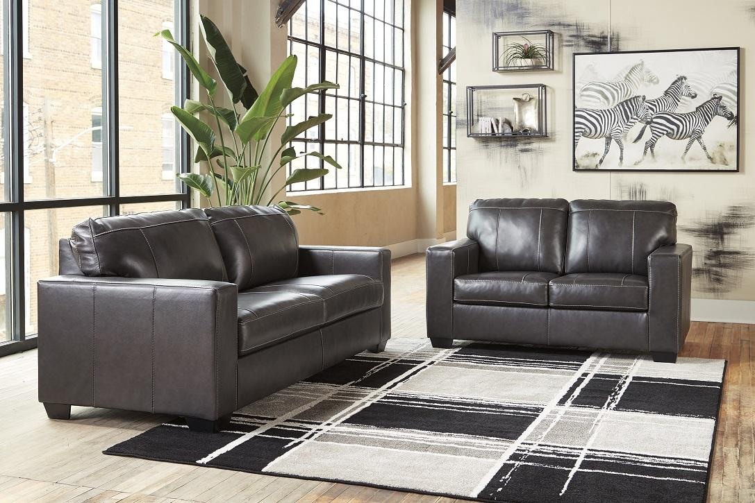 Conrad Leather Sofa and Loveseat,Jaron's Showcase
