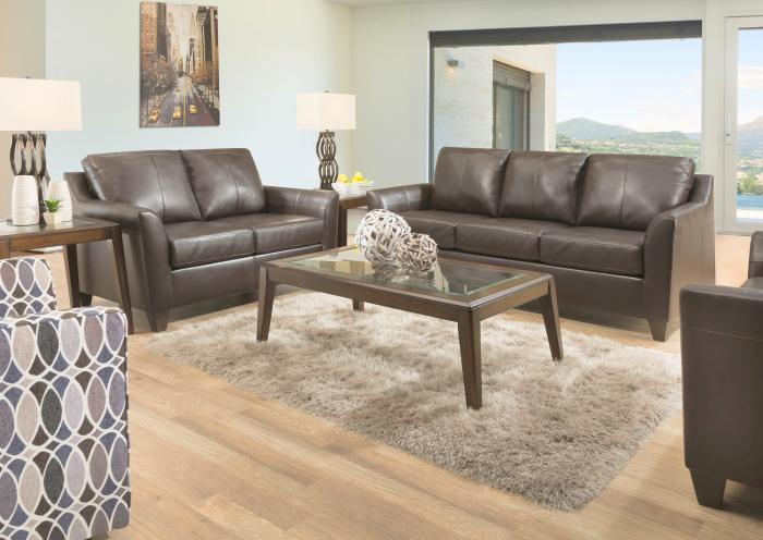Austin Leather Sofa and Loveseat,Jaron's Showcase