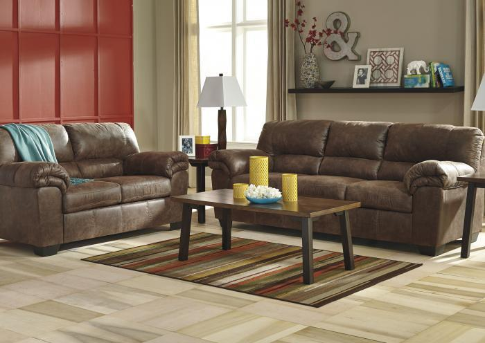Balden Coffee Loveseat,Jaron's Showcase