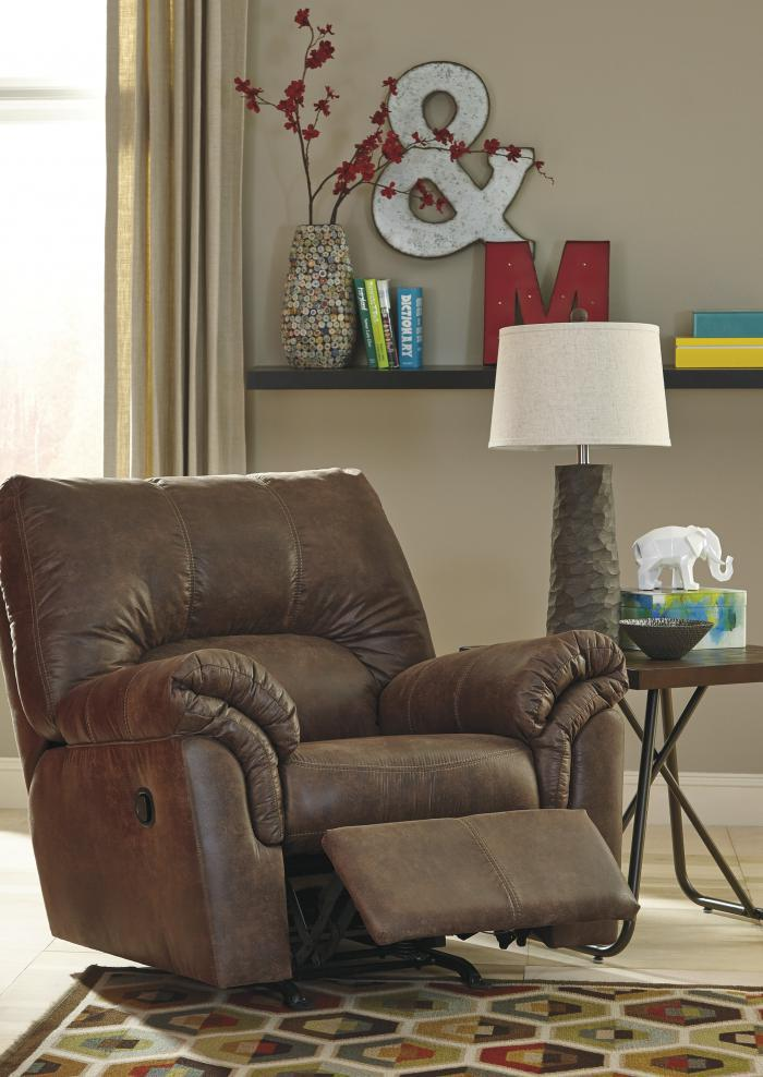 Balden Coffee Rocker Recliner,Jaron's Showcase