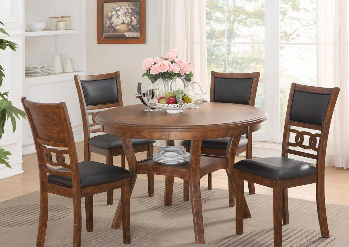 Gia Brown Standard Height Table and 4 Chairs,Jaron's Showcase