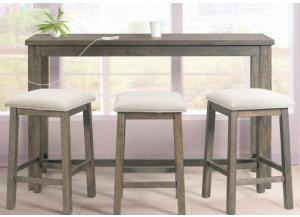 Image for Stone Bar Table with 3 Stools
