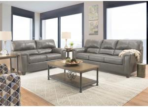 Image for Graham Leather Sofa and Loveseat