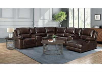 Image for Brenham Mahogany 4 Piece Power Reclining Sectional