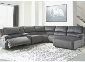 Image for Brighton 6 Piece Charcoal LAF Reclining Sectional