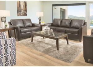 Austin Leather Sofa and Loveseat