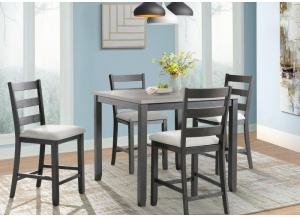 Martin Counter Height Table and 4 Chairs (All in One)