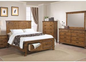 Image for Brett Queen Storage Bed, Dresser, Mirror, Chest and Nightstand