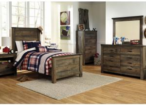 Image for Joshua Twin Bed, Dresser, Mirror, Chest and 1 Nightstand