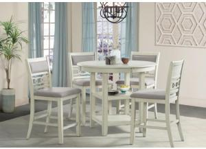 Image for Gia-Amherst Counter Height Table and 4 Chairs