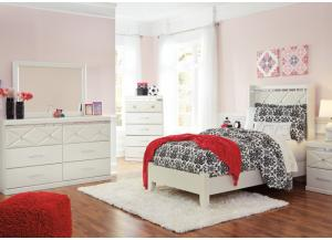 Image for Dreamer Full Bed, Dresser,  Mirror, Chest and 1 Nightstand