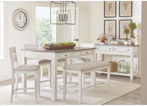Image for Kyle 5 Piece All in One Counter Height Table and 4 Chairs
