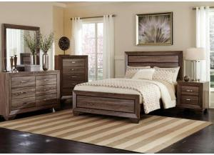Image for Brook King Panel Bed, Dresser, Mirror, Chest and 1 Nightstand