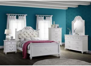 Image for Alana Full Bed, Dresser, Mirror, Chest and 1 Nightstand