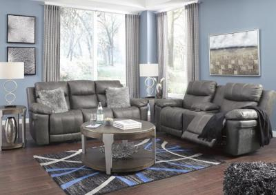 Image for Carbon Power Reclining Sofa and Power Reclining Loveseats with Adjustable Headrests
