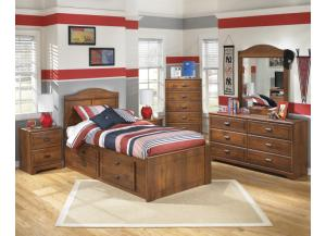 Image for Stephan Twin Panel Bed with Storage, Dresser, Mirror, Chest and 1 Nightstand