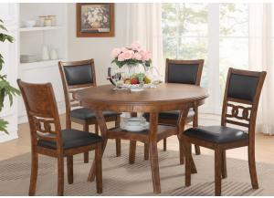 Gia Brown Standard Height Table and 4 Chairs