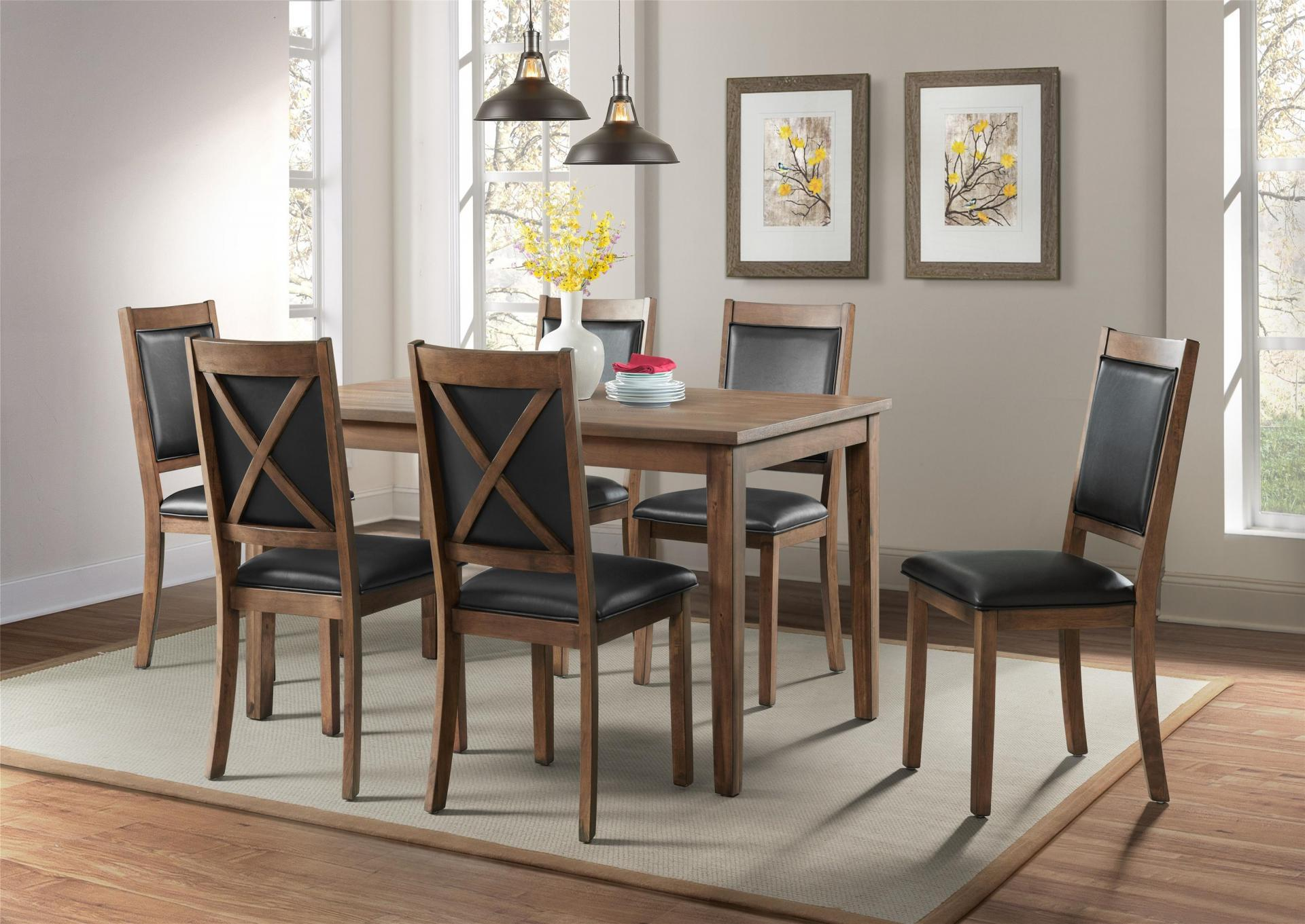 5084-Table & 6 chairs ,Jerusalem Furniture
